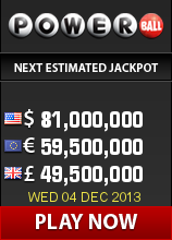 Nopirkt kuponi Powerball amerikāņu loterijā