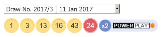 11 ਜਨਵਰੀ 2017 ਅਮਰੀਕੀ ਪਾਵਰਬਾਲ ਅੱਜ ਦੇ ਨੰਬਰ