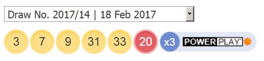 18 ਫਰਵਰੀ 2017 ਅਮਰੀਕੀ ਯੂਐਸਏ ਪਾਵਰਬਾਲ ਲੋਟਸ ਦੇ ਨਤੀਜੇ ਅੱਜ ਤੋਂ ਹਨ