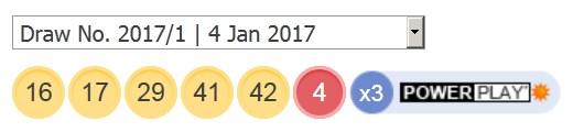 4 ਜਨਵਰੀ 2017 ਅਮਰੀਕੀ ਪਾਵਰਬਾਲ ਅੱਜ ਦੇ ਨੰਬਰ