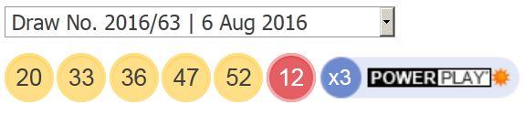 6-ਅਗਸਤ -2016-ਪਾਵਰਬਾਲ-ਨਤੀਜੇ