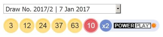 7 ਜਨਵਰੀ 2017 ਅਮਰੀਕੀ ਪਾਵਰਬਾਲ ਅੱਜ ਦੇ ਨੰਬਰ