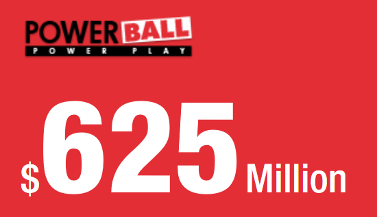Neste estimert Powerball lotteri jackpot $ 625 Million! Dato for neste Powerball-lotterispill: 23rd of March 2019