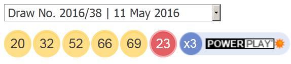 ਪਾਵਰਬਾਲ ਨਤੀਜੇ: 11 ਮਈ 2016