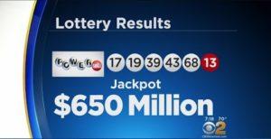 Lassen Sie uns Powerball Lotterie 650 Millionen Dollar Jackpot spielen