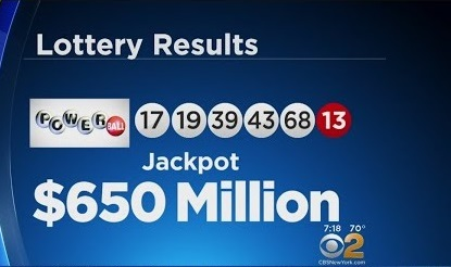 la oss spille powerball lotteri 650 millioner dollar jackpot