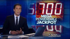 Delta i amerikansk lotteri powerball 700 million dollar jackpot å bli vunnet i dag
