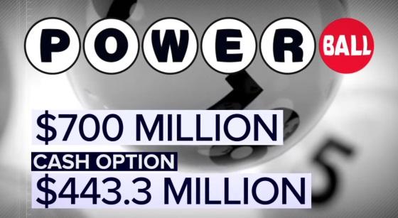Powerball-Lotterie teilnehmen heute 443 Millionen Dollar Cash-Option