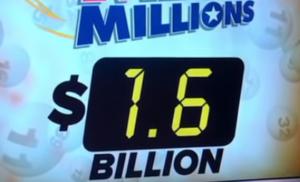Amerikāņu loterijas Megamillions sasniedz $ 1.6 miljardus