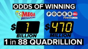 Millised on tõenäosus võita samaaegselt nii Megamillionide loteriil kui ka Powerballi loteriil?
